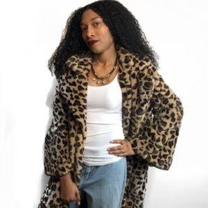 A Funky Pineapple Jackets & Coats - 🍍🍍LEOPARD COAT, large lapel, bell sleeves, Sz.L